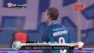 Футбол  РФПЛ  16 й тур  Зенит   Уфа 2 0 90+3' Александр Кокорин