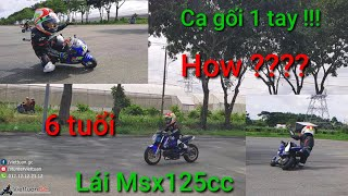 Kỉ lục Việt Nam ! 6 tuổi lái Msx 125cc côn tay ! Bo cua cạ gối 1 tay ! How ? Kĩ Sư Hẻm - VietTuanGC