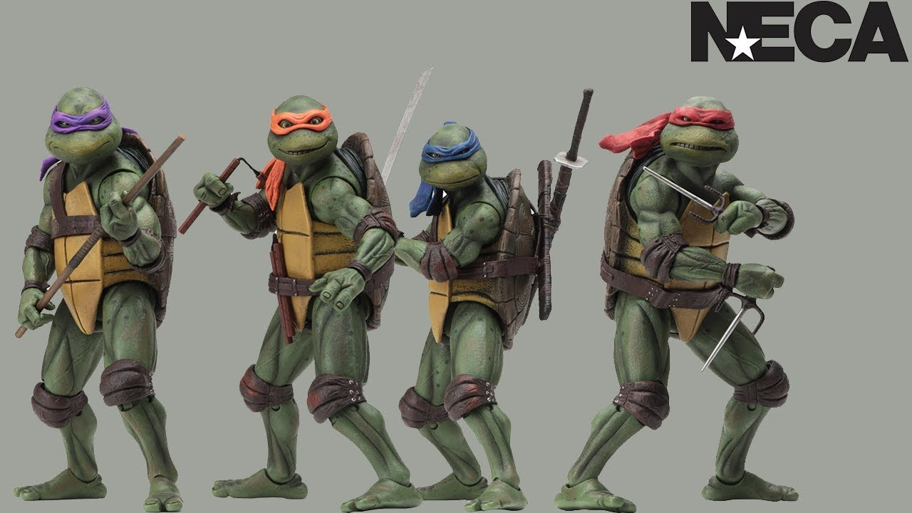 Neca Re Releasing 7 Inch 90s Tmnt Movie Figures At Gamestop Youtube