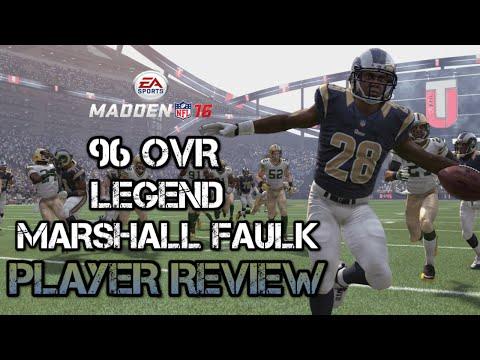 96 OVR Legend Marshall Faulk | Player Review | Madden 16 Ultimate Team Gameplay | MUT 16