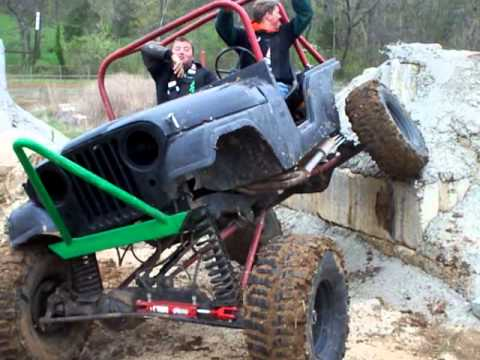 Jeep Rock Crawler >> Custom Differentials Mudrun 2011 Jeep CJ 4 link Backup Obstacle - YouTube