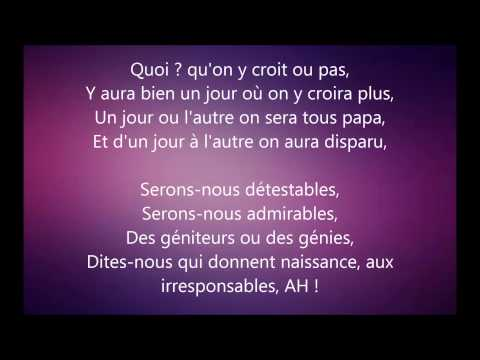 Stromae Papaoutai ,PAROLES
