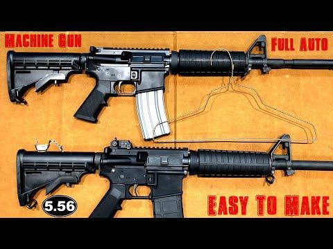 The Coat Hanger Machine Gun, How It Works - YouTube