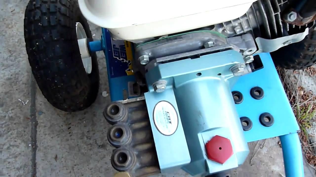 honda gx pressure washer  hp engine  psi cat triplex pump youtube