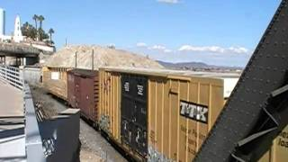 Union Pacific General Merchandise Train Crossing Into Arizona