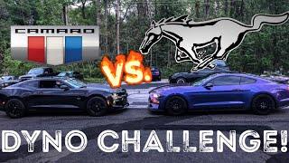DYNO BATTLE: TUNED 2018 MUSTANG GT VS. BUILT 2017 CAMARO SS!