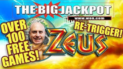 WOW!!! ⚡OVER 100 FREE GAMES!! ZEUS RE-TRIGGER WIN! ⚡ | The Big Jackpot