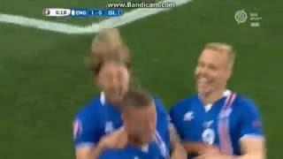 Anglia 1-2 Izland: Sigurdsson gól
