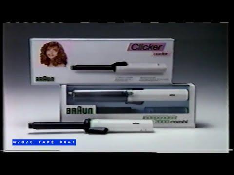 Braun Hair Curler Commercial - 1989