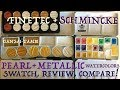Schmincke Pearl & Metallic Watercolor Review & Finetec Comparison!