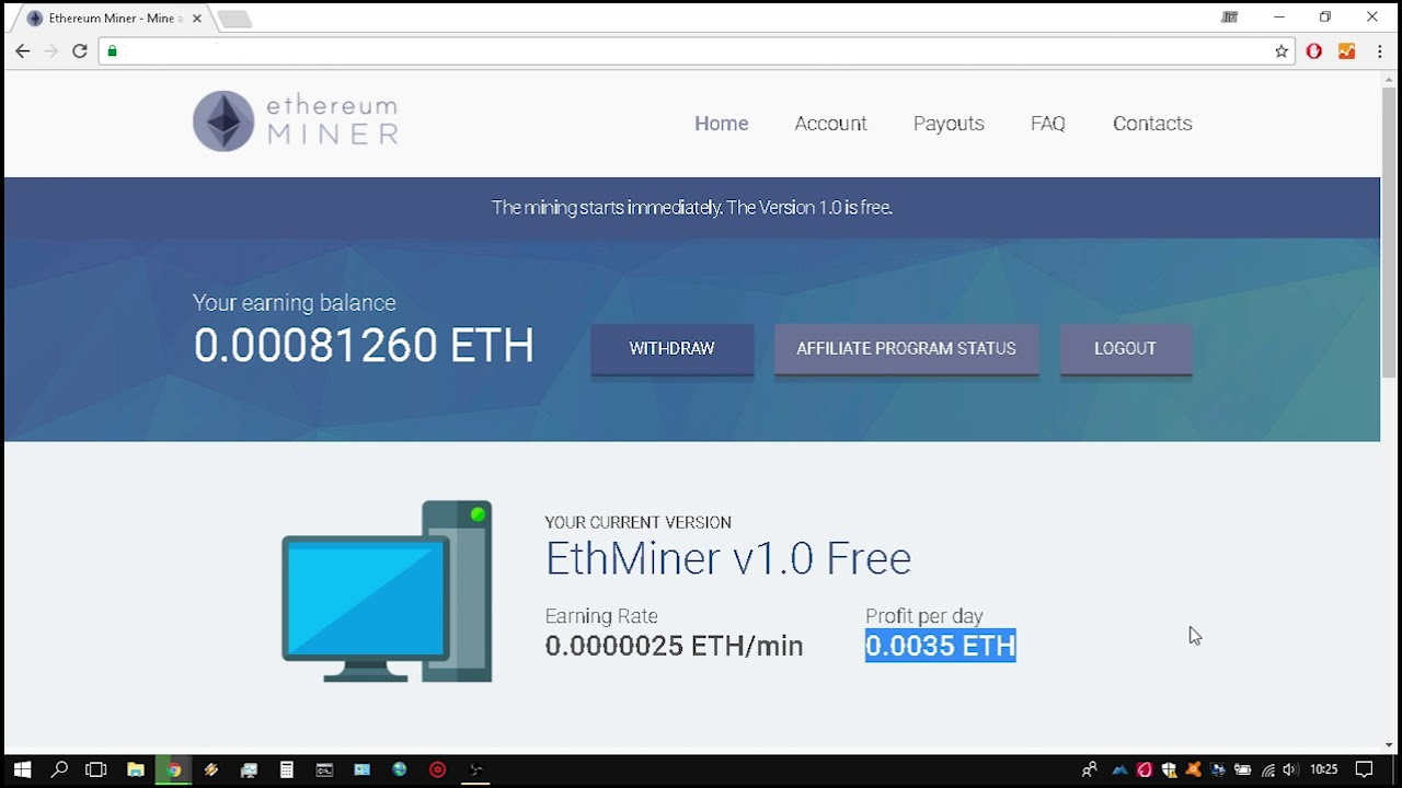 Cryptocurrency mining online free