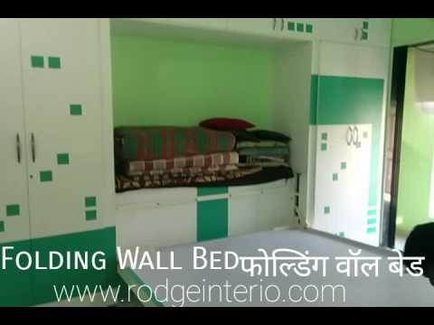 Folding Wall Bed Design India Youtube