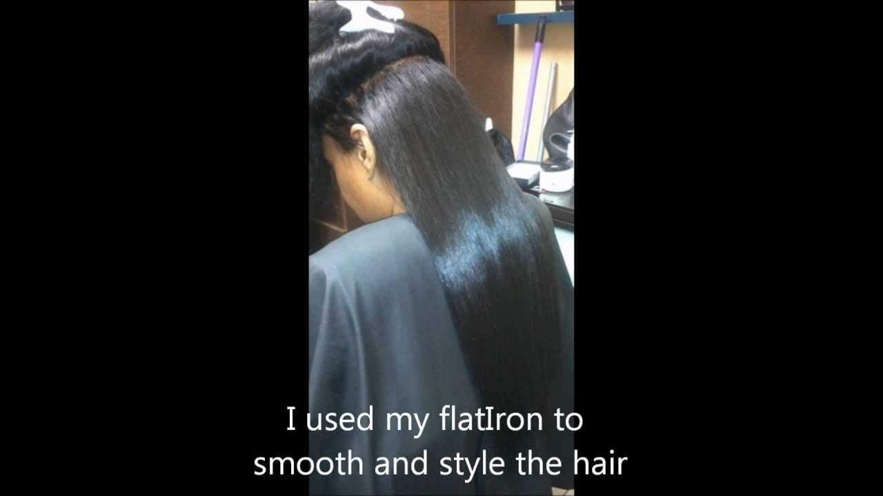 Braidless Sew In Weave Videowmv Youtube