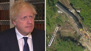 Boris Johnson 'deeply saddened' by Stonehaven train derailment