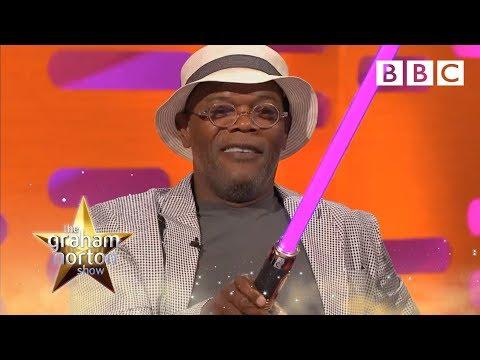 Samuel L. Jackson's Purple Light Sabre  The Graham Norton : Series 13 Episode 13  BBC One