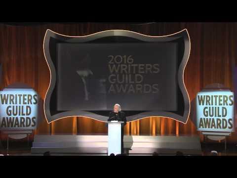 Screenwriter Robert Towne presents the 2016 Screen Laurel Award to Elaine May