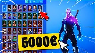 MY HUGE CASIER ON FORTNITE WITH RARE SKINS (5000 euros)