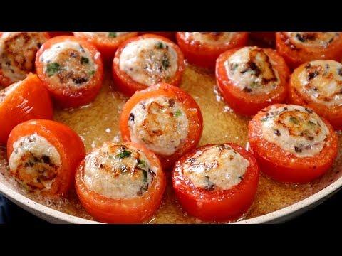 Cách làm CÀ CHUA NHỒI CÁ SỐT CÀ chua ngọt thật là ngon – Món Ăn Ngon