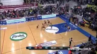 Galatasaray Fenerbahçe Bayan Basketbol Kupa Finali 74 - 72 Son Saniye Basketi
