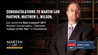 Matthew L. Wilson, named the Best Lawyers® 2017 Workers' Compensation - Claimants  in Philadelphia