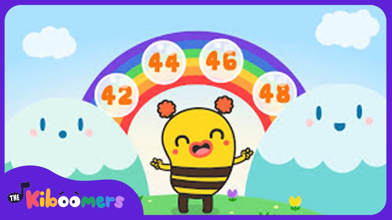 Counting by 2s  | Counting to 100 | Math Song for Kindergarten | The Kiboomers
