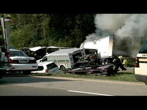 Grave accident de la route aux Etats-Unis