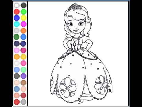 Sofia The First Coloring Pages For Kids - Sofia The First Coloring Pages