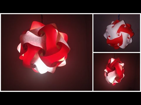 DIY Paper Lantern - Puzzle Lamp - Iq Jigsaw Light with 20 piece element