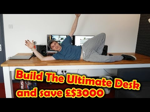 Build the Ultimate 3 Meter long Computer Desk / Dinner Table