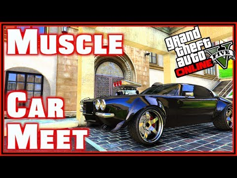 gta 5 muscle car meet drag racing and drifting ps4 2018. Black Bedroom Furniture Sets. Home Design Ideas
