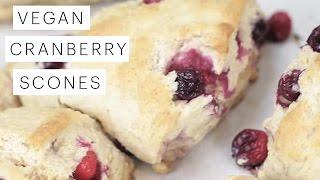 Vegan Recipe: Cranberry Scones (The Queens Favorite)  Edgy Veg