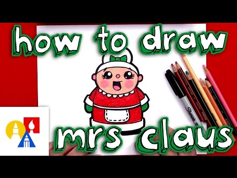 How To Draw Cartoon Mrs. Claus