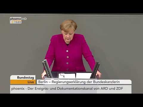 Regierungserklärung von Angela Merkel am 21.03.2018