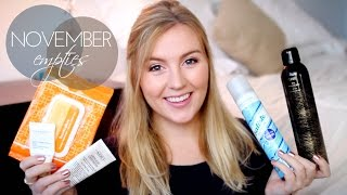 November Empties | Products I've Used Up Thumbnail