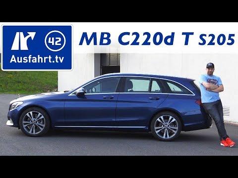 2017 Mercedes Benz C 220 d T-Modell (S205) - Fahrbericht, Probefahrt,Test, Review, Kaufberatung