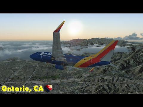 Fsx] Southwest 737-700 To Ontario, California - YT