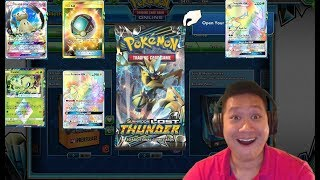 99 LOST THUNDER BOOSTER Pack PTCGO Opening, 19,800 Tokens Spent, Sick Pull Rates