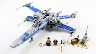 LEGO Star Wars Resistance X-Wing Fighter (Timelapse & Review) - Set 75149