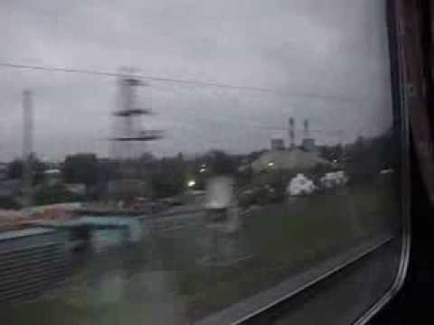 Traveling by train trough Moscow