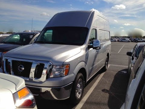 2012 Nissan NV2500 HD Cargo Van 5.6L V8 Start Up, Quick Tour, & Rev With Exhaust View - 7 Miles