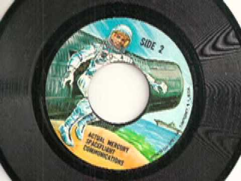 Actual Mercury Spaceflight Communications 45 rpm record