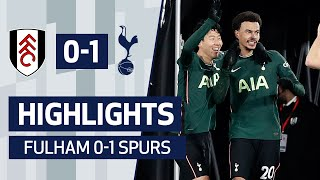 DELE MAKES THE DIFFERENCE | HIGHLIGHTS | Fulham 0-1 Spurs