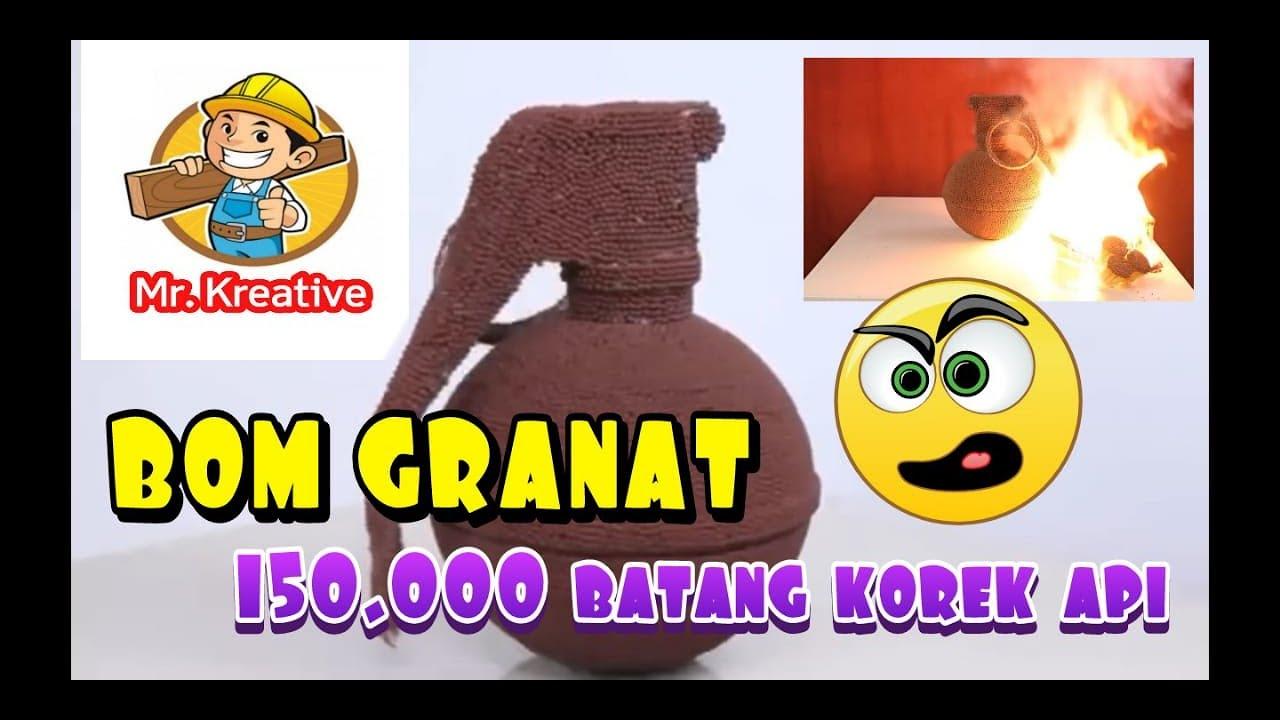 GRANAT DARI 150.000 KOREK API KAYU - YouTube