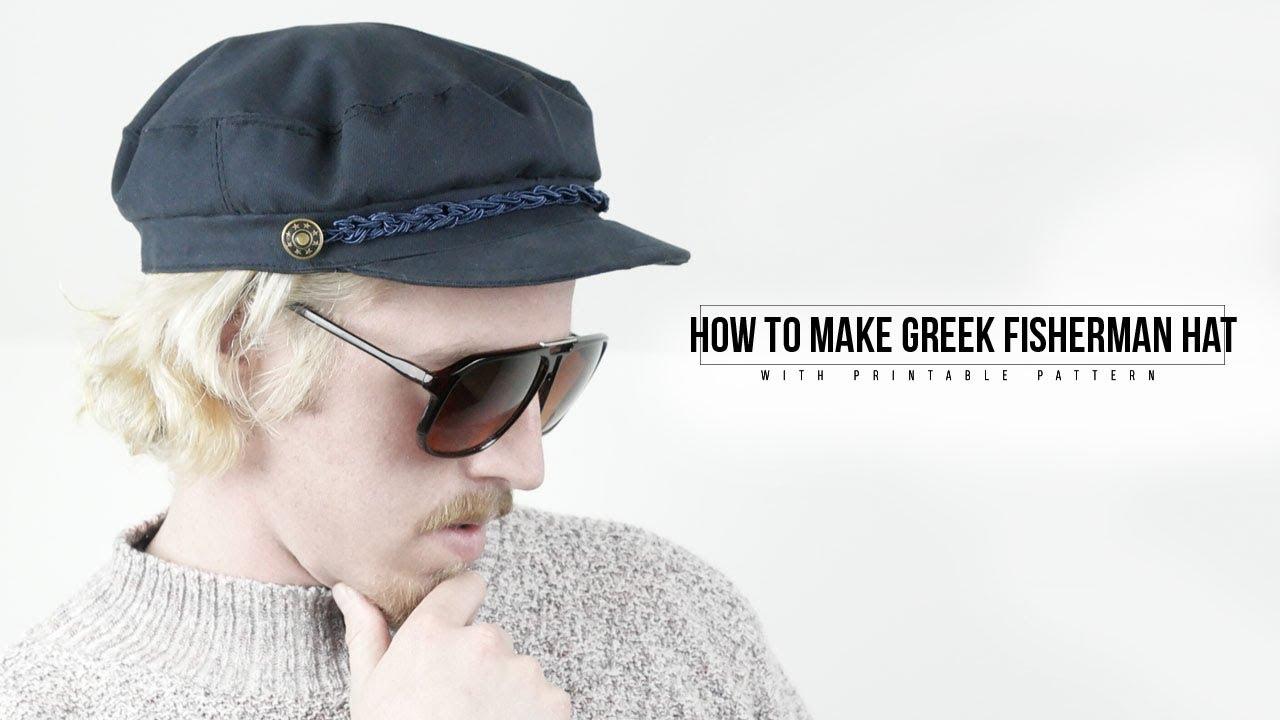 73ccb656 How to Make Greek Fisherman Hat - YouTube