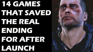 14 Video Games That Saved The Real Ending For After Launch
