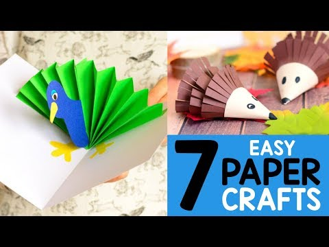 7 Easy Paper Crafts Ideas - simple crafts for kids