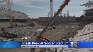 Sneek Peek At LAFC Soccer Stadium