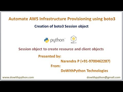 How to create session object in boto3 of python scripts for AWS Automation ?