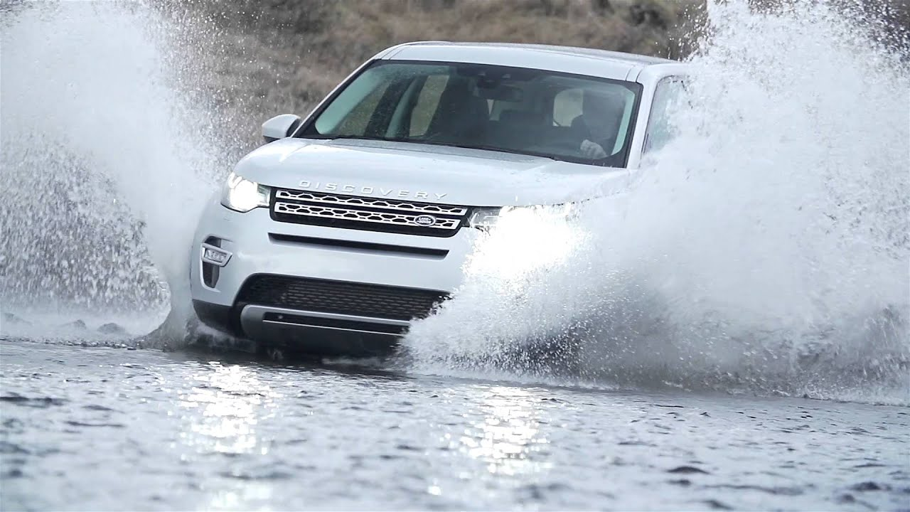 Land Rover Discovery Sport Wading Through Water Off Road