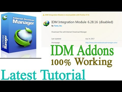 How to Fix IDM Integration with Firefox 57 latest 2018 100% Working Tutorial